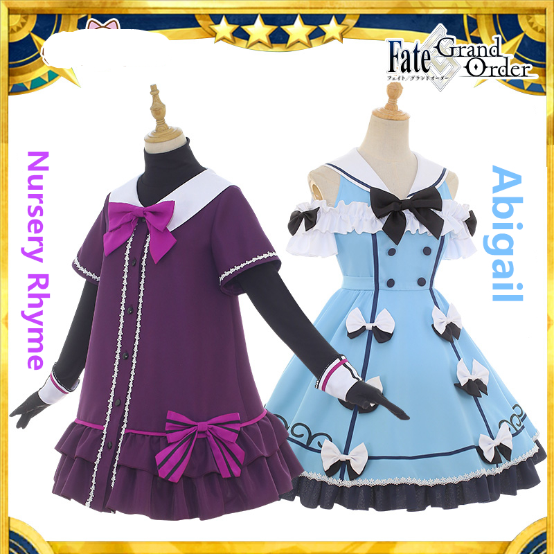 Fate/Grand Order Cosplay Nursery Rhyme Abigail Jack the Ripper Joan of Arc cosplay costume daily suit summer dress