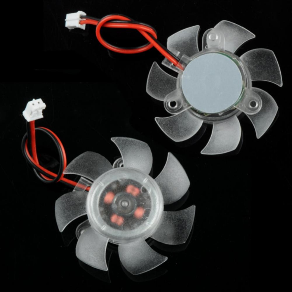 YCDC Mini Cooling Fan 45mm 2Pin PC Graphics VGA Video Card Heatsink Cooler Cooling Replacement Fan 12V 5pcs lot fd7015h12s 65mm graphics video card vga cooler fan replacement 39mm 12v 0 43a 2wire 2pin for ati hd5750 hd5770