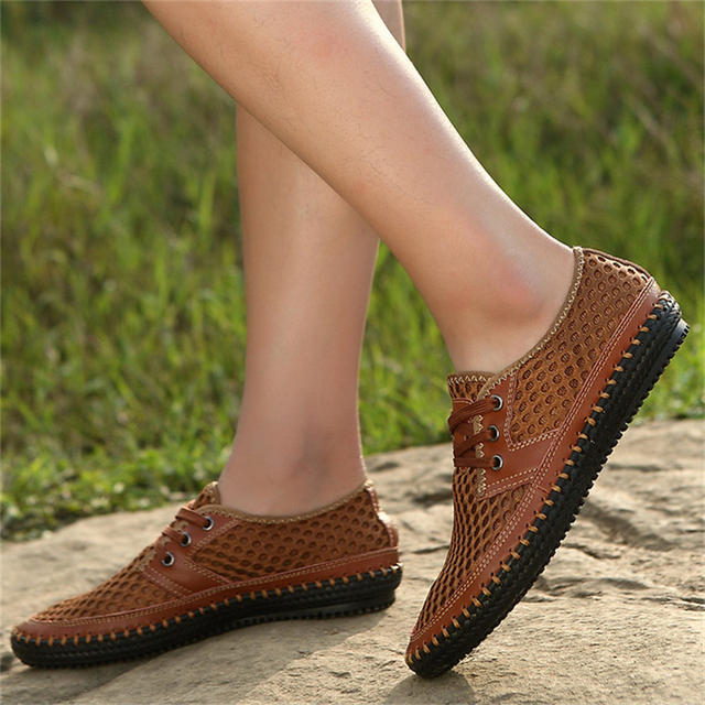 Zapatos transpirables de verano  para Hombre, Zapatos transpirablesde malla de moda 2019, Zapatos de Hombre talla grande 38- 48 calzado