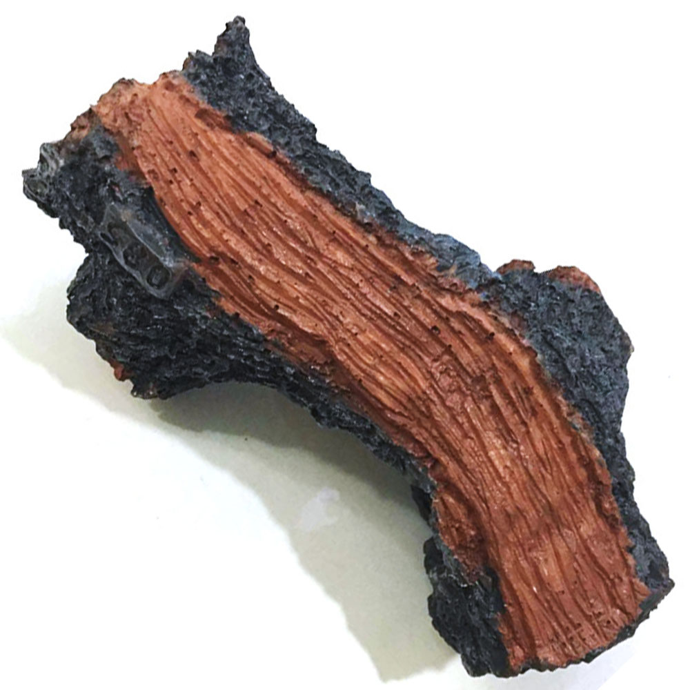 17.5*8*10cm Aquarium Simulation Fake Polyester Tree Trunk Wood Fish Tank Decor Fish Tank Hollow Tree Trunk