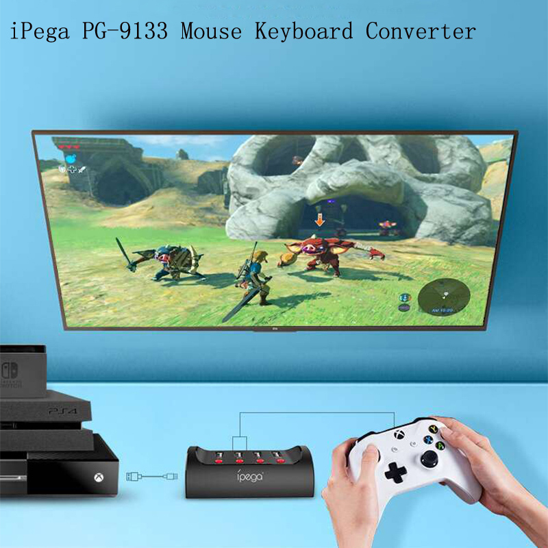 iPega PG-9133 Mouse Keyboard Converter USB Wired for Nintendo Switch for PS4 for XBOX One FPS Game Support TURBO AUTO SETTING image