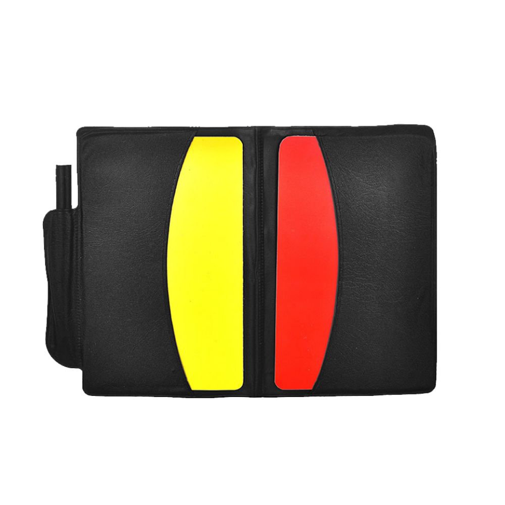 Booklet Football Referee Case 1 Set With Pencil Pro Game Yellow Red Card Useful Fun Judgecase Equipment Colorful Sport PVC Set