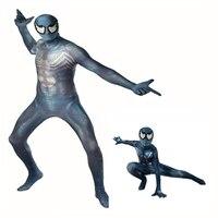 Marvel New Venom Venom Symbiote Spider Man Cosplay Siamese Tight Fitting Clothes Adult Children Halloween Performance Clothes