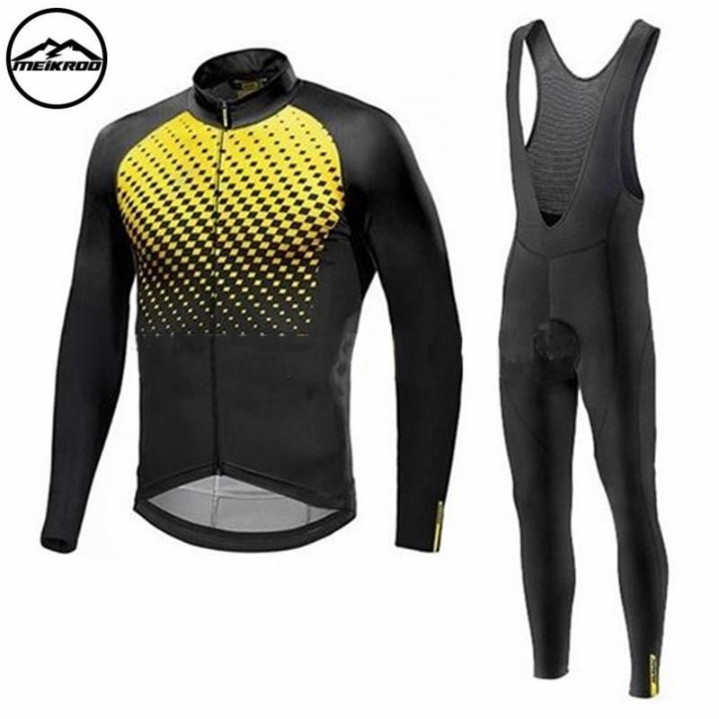 MAVIC Pro Team 2018 Spring Cycling Jersey Long Sleeve Set Ropa Ciclismo Quick Dry Sport Men Triathlon MTB Bike Cycling Clothing