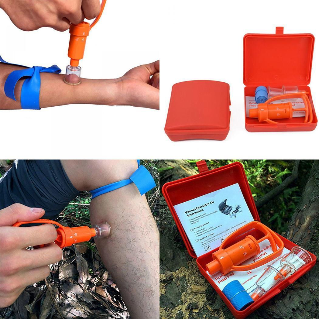 Poison Extractor Pump Kit Vacuum Poison Removal Tool Outdoor First Aid Tool As Picture