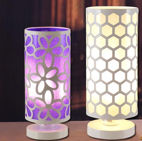 Модные украшения железа прикроватная лампа настольная лампа современный краткое затемнения Светодиодное освещение