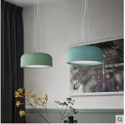 The living room Pendant Lights Nordic bedroom study lamps creative personality Macarons lifting dining restaurant LU816316 chinese style iron rectangula pendant lamps creative personality study the living dining room bar lights za628 zl33 ym