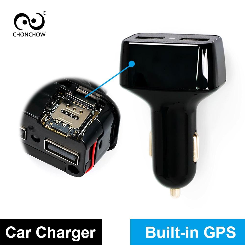 CHONCHOW Mini GPS Tracker Voiture Chargeur pour Téléphone Buitl dans GPS Dispositif D'écoute GPS + AGPS + LBS Suivi de Localisation blanc et Noir