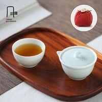 Portable Travel Tea Set Quick Cup Filter Ceramic China 1pot 1cup 1 Bag Teapot And Cup