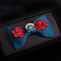 High quality Tie's for men chinese Style Hand make embroidery Cravat Bowknots Mens Bow Tie Wedding Groom Shirts accessories