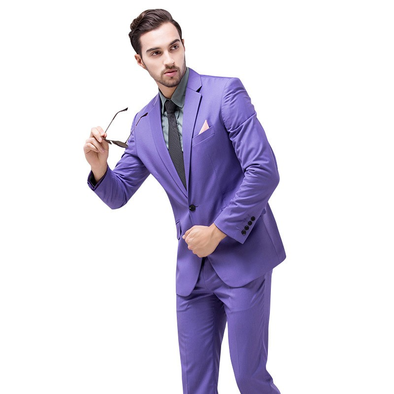 buy 2017 new arrival men suit shiny wedding groom suits for men brand fashion tuxedo 2 piece multi color slim fit business suit - Smoking Hugo Boss Mariage