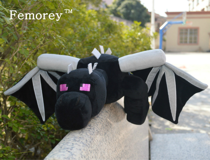 My World Minecraft Ender Dragon Plush Soft Black Minecraft Enderdragon PP Cotton Minecraft Dragon Toys 2015 hot 24 60cm huge big minecraft ender dragon plush soft black minecraft pp cotton minecraft dragon toys