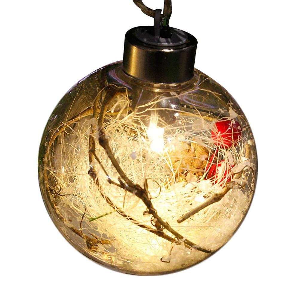 Merry Christmas Tree Bulb Light Ball Ornament Wedding Party Xmas Garden  Decor Festival LED Light Christmas Tree Decoration
