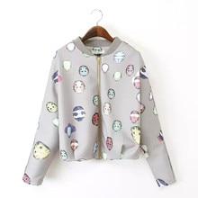 summer new European and American fashion space cotton armor print jacket that long-sleeved baseball uniform