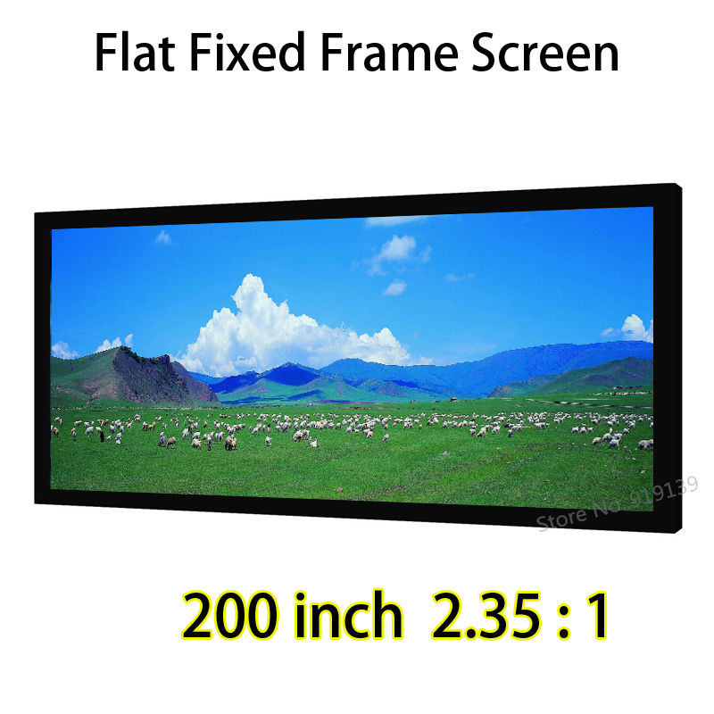 HD Screen 200-inch 2.35:1 Flat Fixed Frame DIY Projection Screens Perfect For 4K 3D Movie hd projector projection screen 300inch 16 9 format outdoor fast folding frame screens for camping music party