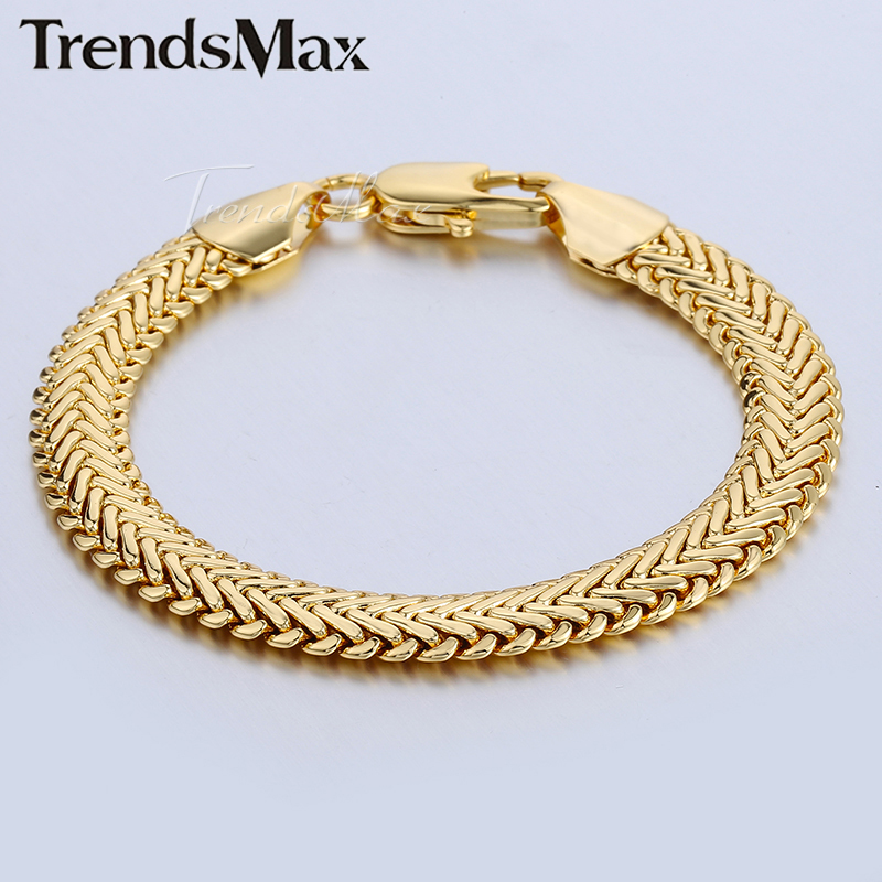 Trendsmax 9mm Snake Herringbone Foxtail Chain Yellow or Roses