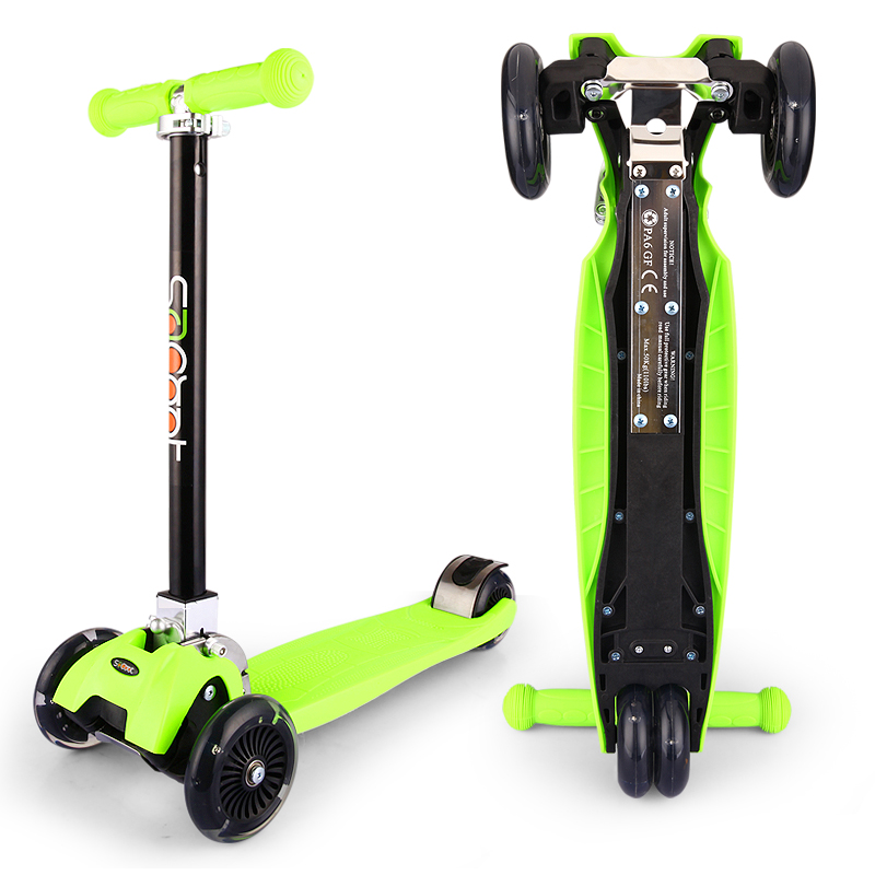 2018 cool children's scooter can be folded fast high children's scooter 3 three wheel scooter 3-12 years old Surfing scooter scooter