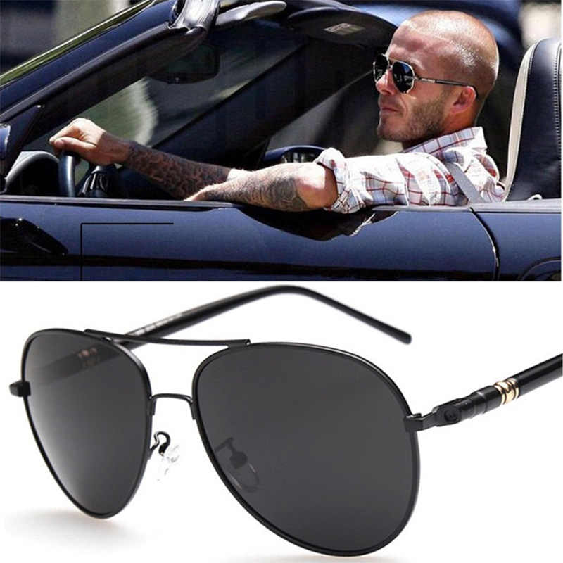 Luxury Sunglasses Men Polarized HD UV400 Pilot Aviation Driving Vintage Retro Male Sun Glasses Metal Frame Eyewear Accessories