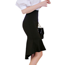 6273b1632 Fashion Nice Autumn Brand Casual High Waist Midi Pencil Fishtail Skirts  Women Female Flared Women Long
