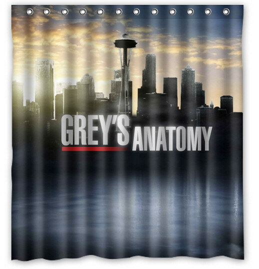 Custom Greys Anatomy Printed Polyester Shower Curtain 66 X 72 Inch American Style Bathroom In Curtains From Home Garden On