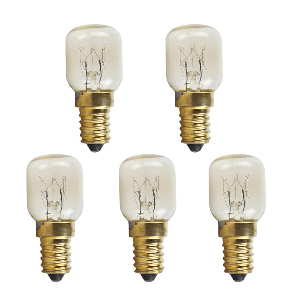 10pcs T25 E14 25W Microwave Oven Bulb Small Screw Light Bulb 300 Celsius Degree with High Temperature Resistance #15