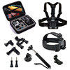 9 In 1 Gopro Accessories Set Storage Bag Chest Strap Bicycle Bracket Kit Headband And Self