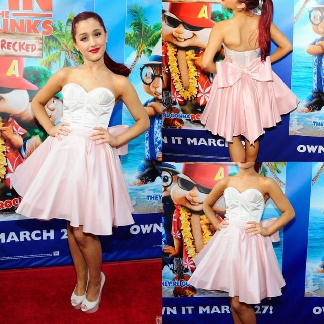 d69f1ba1f39 Ariana Grande Short Celebrity Dresses mini pink vestidos para formatura 2015  curtos Sweetheart Dress Party Evening Elegant