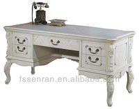 White Solid Wood Desk Classical Desk