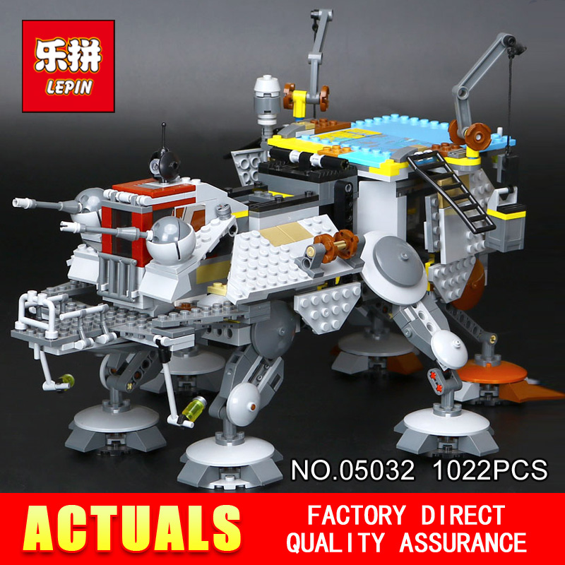 Free shipping Lepin 05032 Star 1022Pcs Gift Wars the Captain Rexs AT-TE model Building Blocks set Classic Compatible toys 75157
