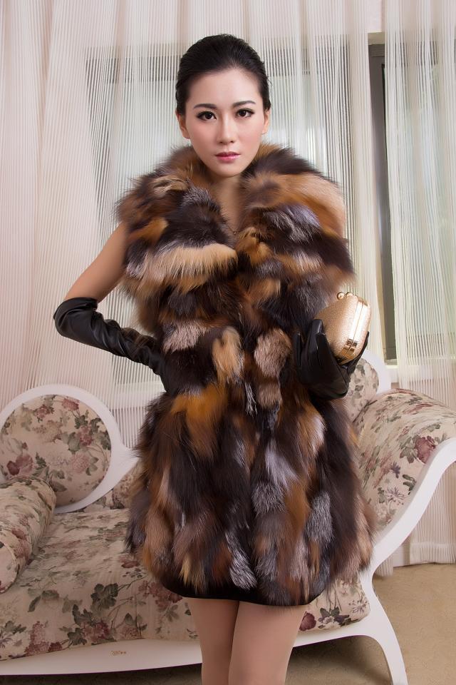 Aliexpress.com : Buy Women New Arrival Real Fox Fur Coat Genuine ...