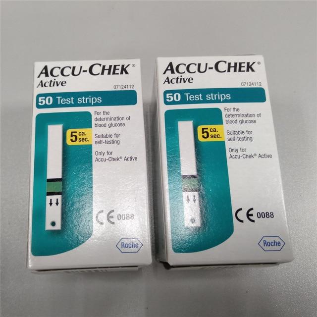 100 PCS (không có mã hóa chip) Thời Hạn Sử Dụng 01.2020 Accu-Chek Hoạt Động Kiểm Tra Strips, vô trùng khăn nước rửa Tay Rượu Pad