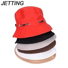 c4a723c2488 Spring Summer Sun Hat Travel Women Hat Unisex Flat Cotton Bucket Hat For  Men Women Female Male Fisherman Cap Black Red