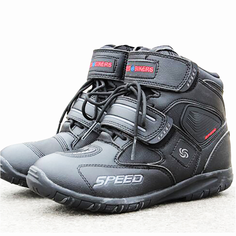 3 colors Moto Motorcycle protective gear Boots Motocross Botas Motorboats Shoes Motorbike Racing Career Speed street