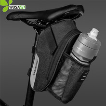 цена на ROSWHEEL 1.8L Capacity Bicycle Bag with Water Bottle Pocket Cycling Reflective Rear Seat Saddle Tail Bag MTB Bike Bags