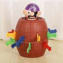 점핑 해적 게임 장난감 키즈 재밌는 럭키 해적 검 배럴 장난감 농담 까다로운 장난감 어린이 선물 가족 파티 게임