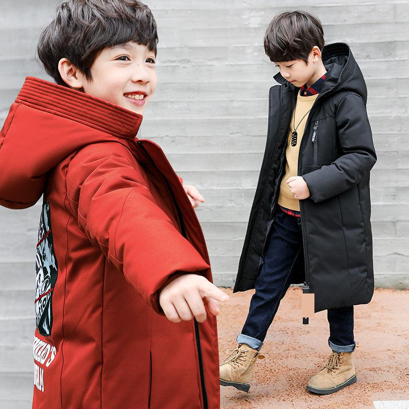 2018 Toddler Boys Cotton Down Jackets Boy Winter Christmas Clothes Kids Fashion Thick Warm Hooded Down Coat Big Boys Outwear Top girl long down jackets dorsill 2017 new winter warm children outwear hooded fashion boy winter coat thick kids down