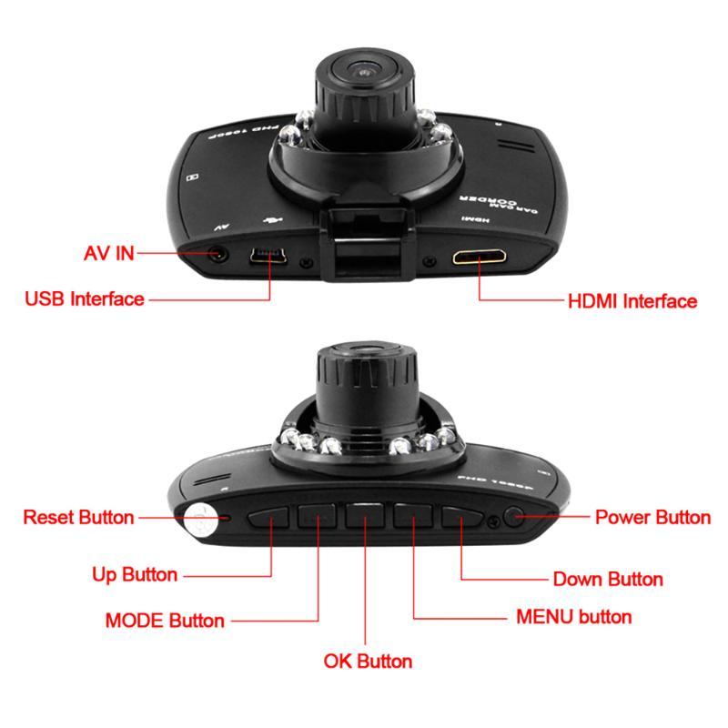 Car DVR Dual Camera Full HD 1080P 2.7 Dash Cam Car DVR Video Camera Recorder Dual Camera Crash 1.2M CMOS sensor DVR Camera