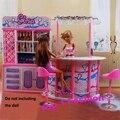Девочка младенцы день рождения подарок играть дом кукла для дети бар BJD мебель для barbie кукла дом