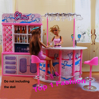 New Arrival Girl Baby Birthday Gift Play House Doll For Children Fashion Bar BJD Furniture For