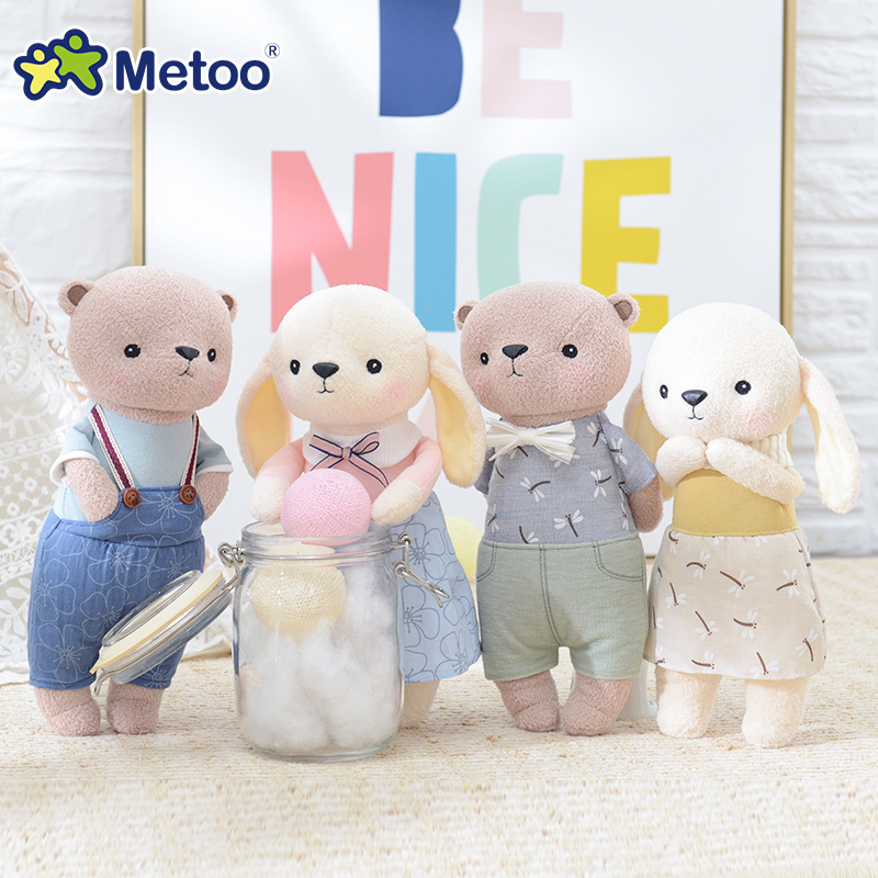 Kawaii Stuffed Plush Animals Cartoon Kids Toys for Girls Children Baby Birthday Christmas Gift Accompany Sleep Metoo Doll retro angela rabbit plush stuffed animal kids toys for girls children birthday christmas gift 13 inch accompany sleep metoo doll