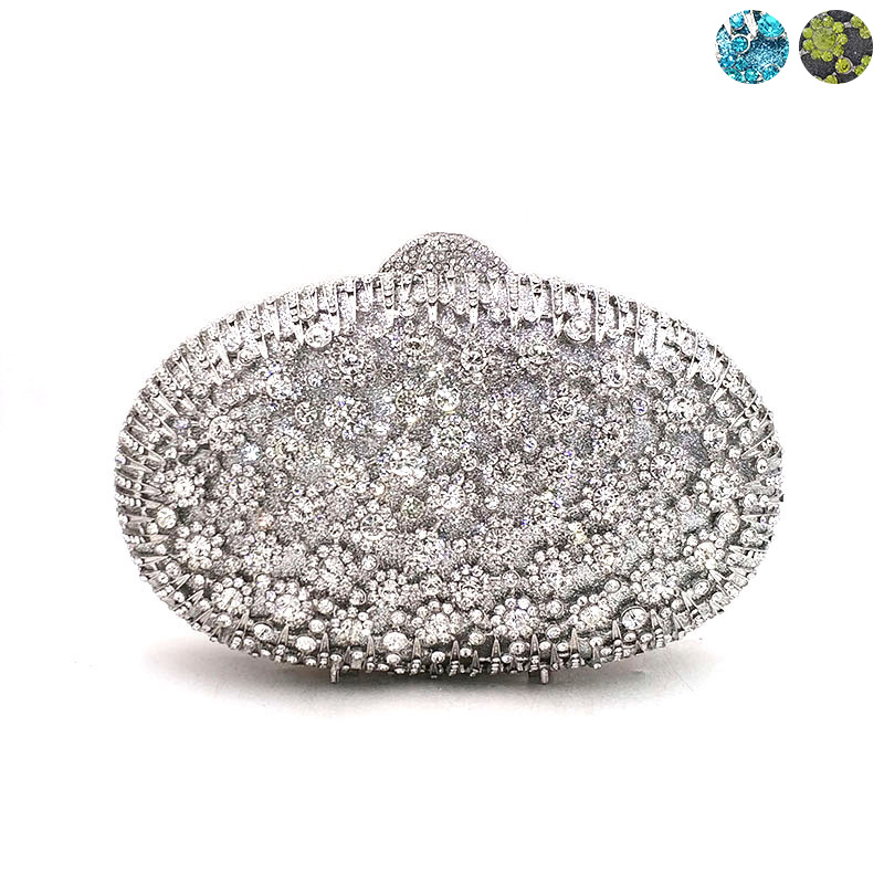 Newest Nigeria Bridal wedding party purses women evening party bag diamonds bag luxury crystal clutches elegant