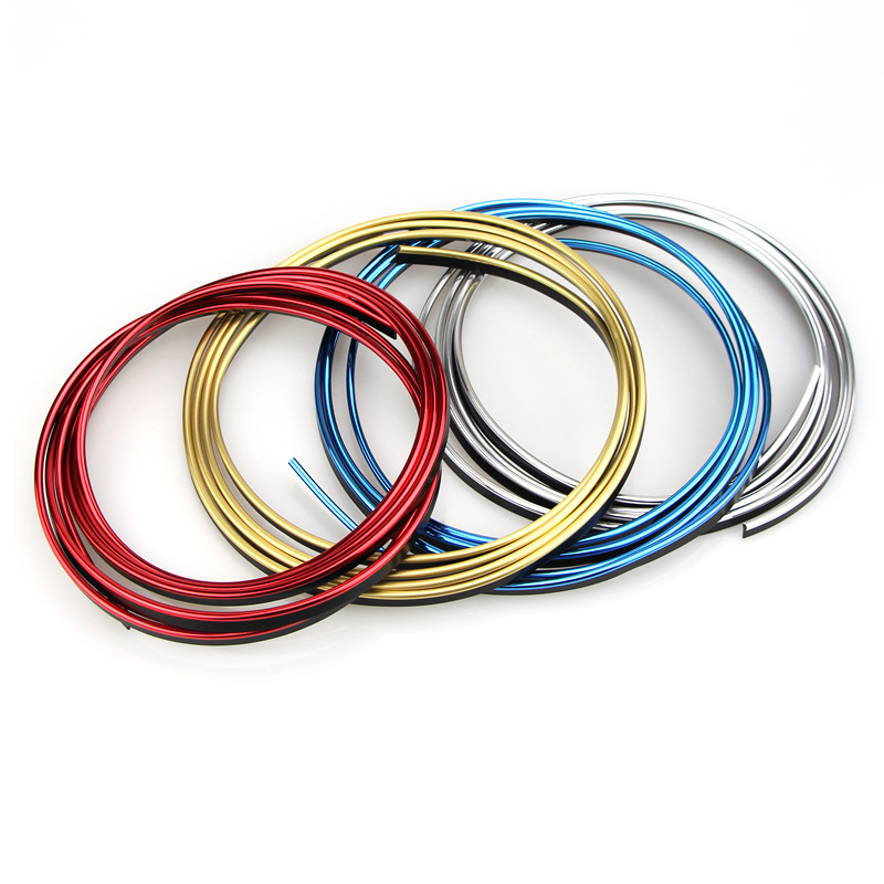 CDCOTN 5M Car Decoration Strip Plating Car Interior Decoration Line Instrument Panel Slot Bright Strip Auto Decorative Strip in Interior Mouldings from Automobiles Motorcycles
