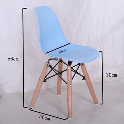 Скандинавский обеденный стол и стулья, современный минималистичный креативный компьютерный офисный стул, повседневный домашний пластиковый кофейный стул - Цвет: Childrens style