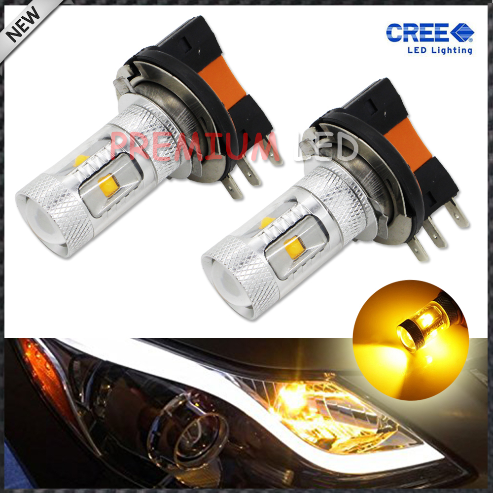 JDM Gold Yellow 3000K 30W CRE'E High Power H15 LED Replacement Bulbs For Beam Daytime Running Lights