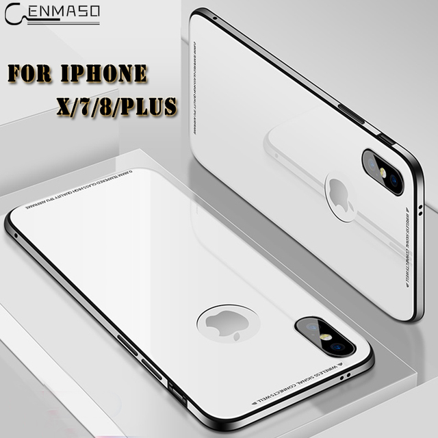 best cheap 96742 747a4 US $14.33 15% OFF|For IPhone X Case 360 Full Protector Soft TPU Metal Side  Rigid Glass Case for IPhone 7 8 Plus Back Cover for Iphone7 Iphone8-in ...