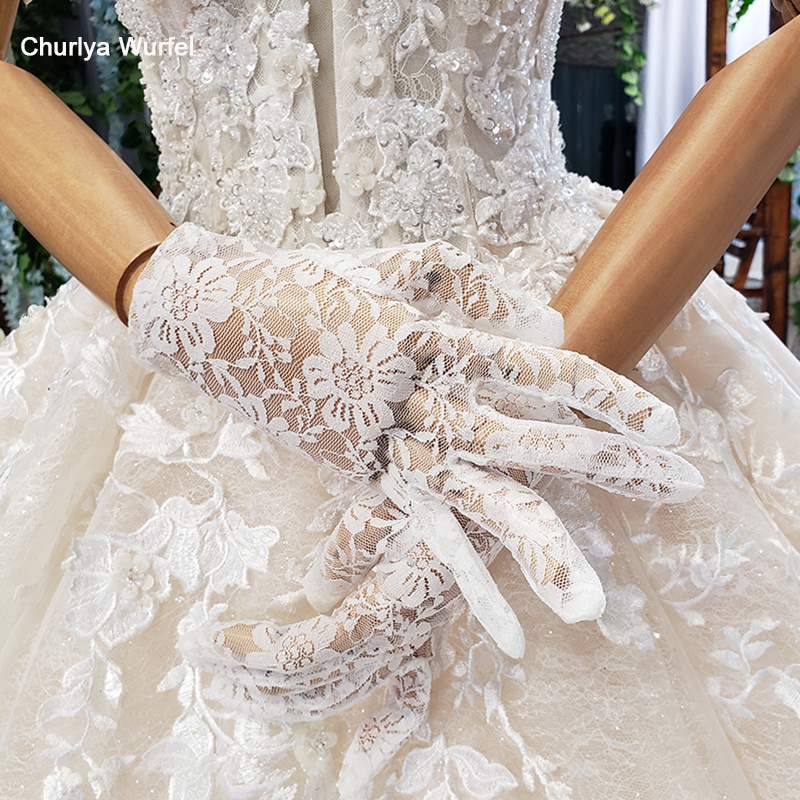 Lace Wrist Fingerless Evening Bridal Short Gloves Dress Party Wedding Gloves FA