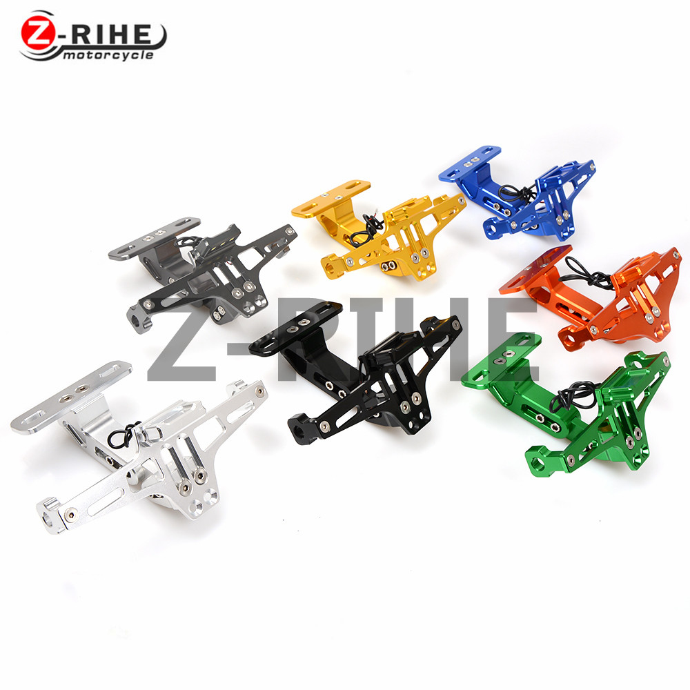 FOR motorcycle aluminum Universal Fender Eliminator License Plate Bracket Ho Tidy Tail For KTM 690 Duke SMC SMCR Enduro R ADVENT for suzuki gsxr1000 2007 2008 motorcycle licence plate bracket tail tidy rear fender eliminator billet aluminum