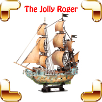 High Level Gift Jolly Roger 3D Puzzles Model Ship DIY Assemble Toys Adult Puzzle Game Movie Figure Models Educational Present