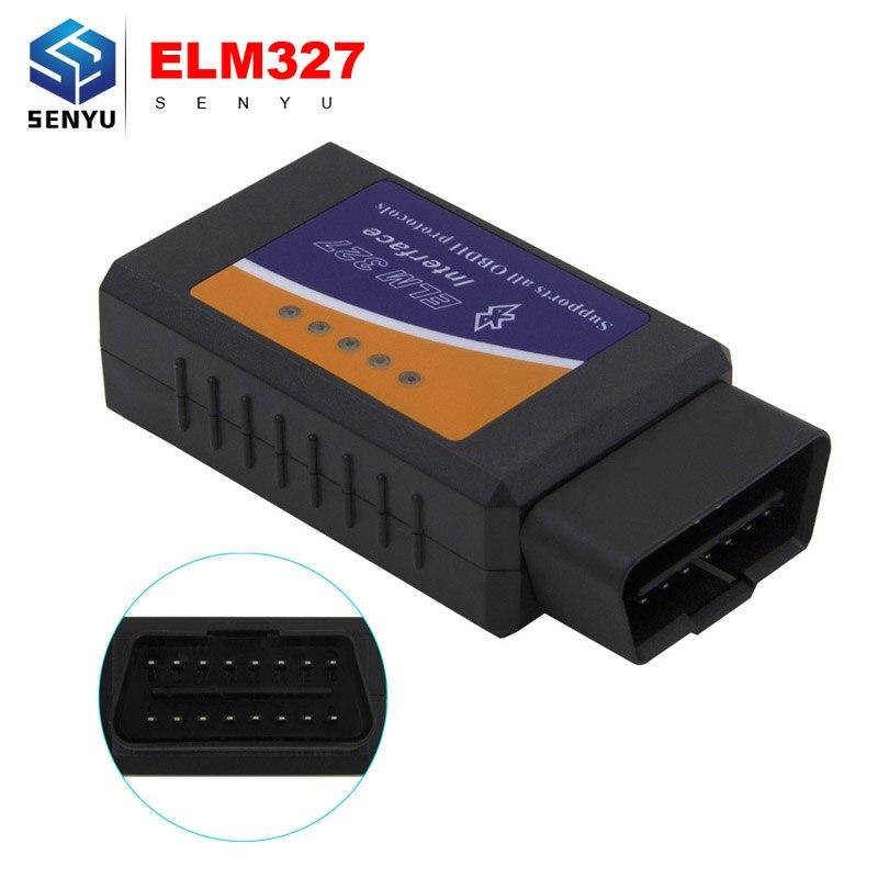 Prix pour Elm327 V1.5 Bluetooth Outil De Diagnostic OBD2 OBD-II ELM 327 V1.5 Bluetooth Lecteur de Code Scanner Fonctionne pour Android Couple