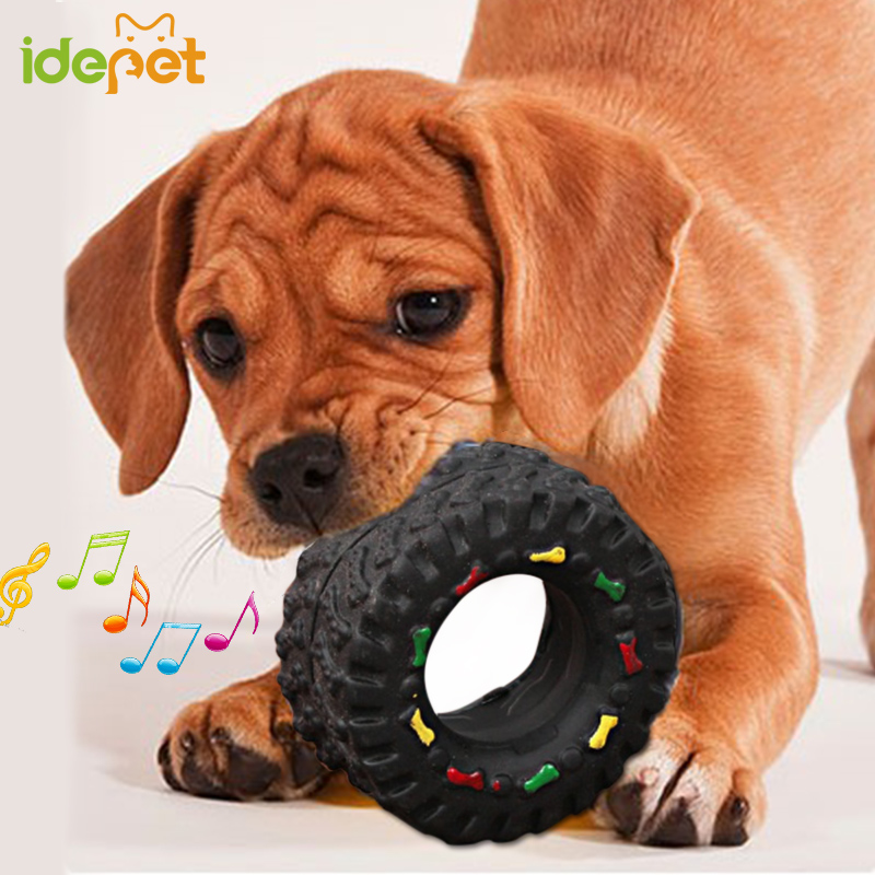 Rubber Dog Chew Toy for Small Dogs Tyre Treads Tough Pet